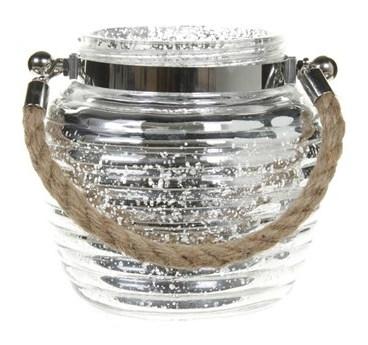 Lantaarn van glas Josh 13 cm
