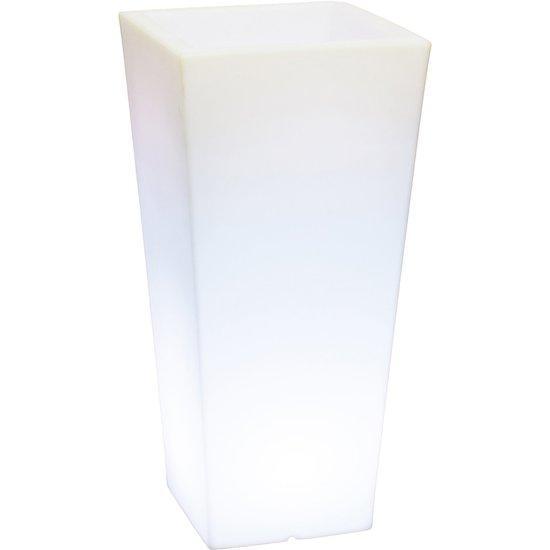 LED Plantenbak Lumenio konisch hoog LED kunststof