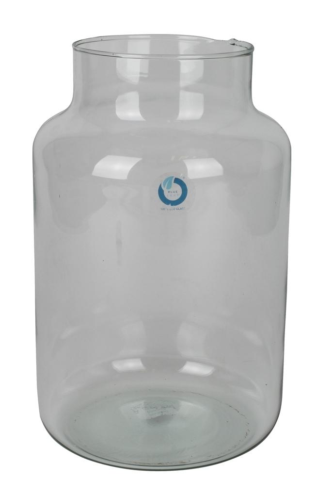 Melkbus glas 30 cm hoog