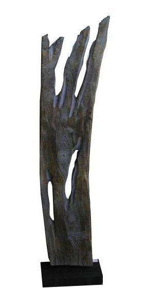 Ornament Karlstad grijs van hout