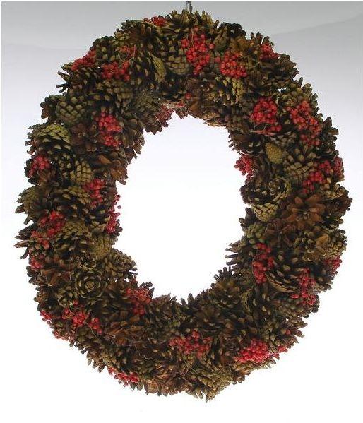 Ovale krans Pepper Berry 50 cm