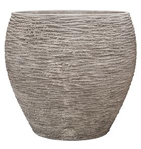Plantenbak Dolcie Raw grey L polystone coated
