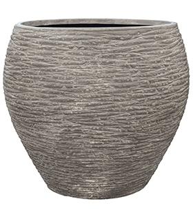 Plantenbak Dolcie Raw grey M polystone coated