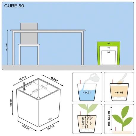 Plantenbak Lechuza Cube 50 diverse kleuren All-in-one set