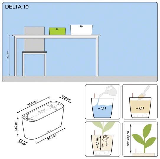 Plantenbak Lechuza Delta 10 diverse kleuren All-in-one set