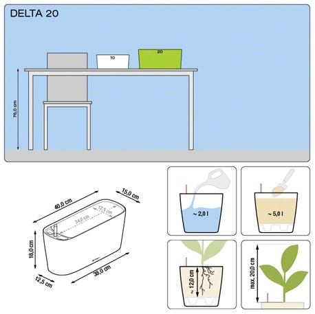 Plantenbak Lechuza Delta 20 diverse kleuren All-in-one set