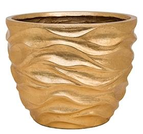 Plantenbak Luxe Lite Glossy Sea gold 45 cm