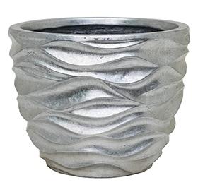 Plantenbak Luxe Lite Glossy Sea silver 33 cm