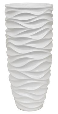 Plantenbak Luxe Lite Glossy Sea white 76 cm