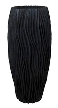 Plantenbak River zwart 100 cm