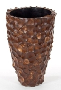 Plantenbak Tunda Shell Mother of Pearl coconut XL