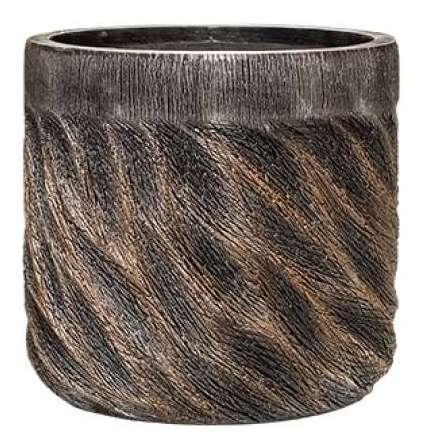 Plantenbak Universe Wave straight couple bronze 33 cm