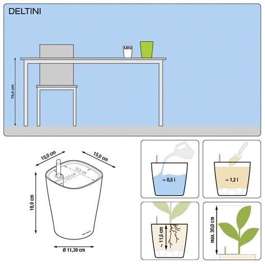 Plantenpot Lechuza Deltini in diverse kleuren All-in-one set