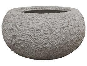 Plantenschaal Kamelle Raw grey S polystone coated