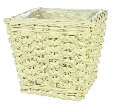 Pot Colo vierkant L gebleekt riet