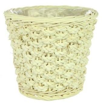 Pot Colos rond L gebleekt riet