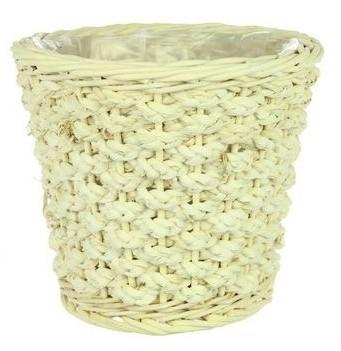 Pot Colos rond M gebleekt riet