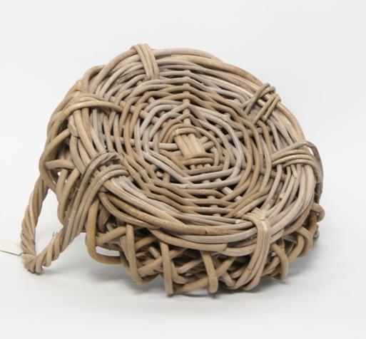 Rotan plantenschaal gevlochten met handvaten