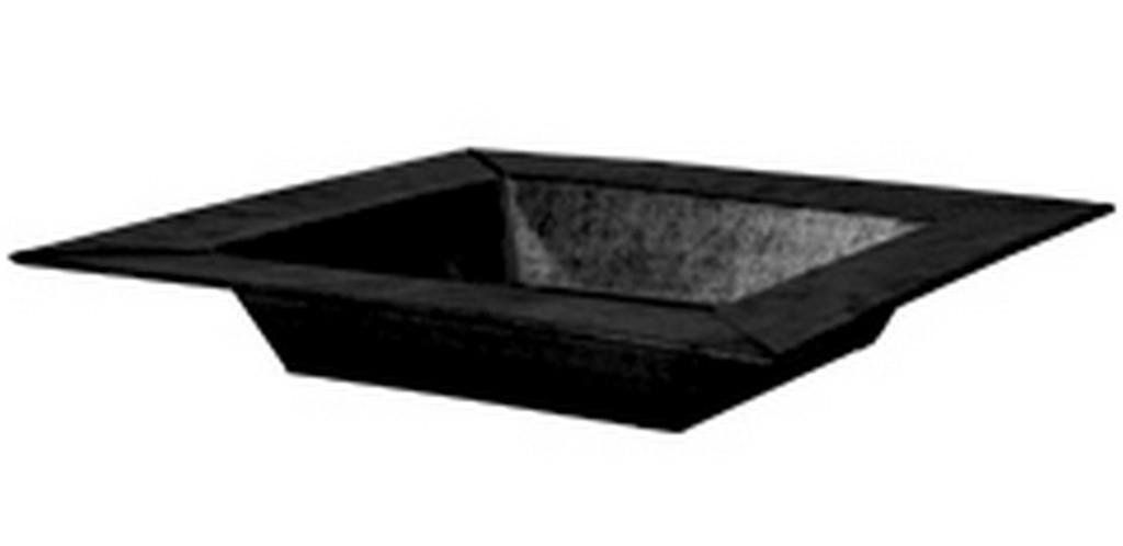 Schaal vierkant Vigo zink in crème en zwart