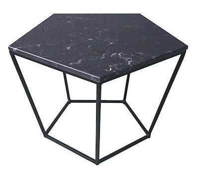 Tafel Bayville zwart metaal industrieel MAR10