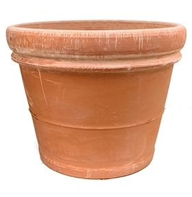 Terracotta plantenbak Doppio Bordo antiek Ø 76 cm