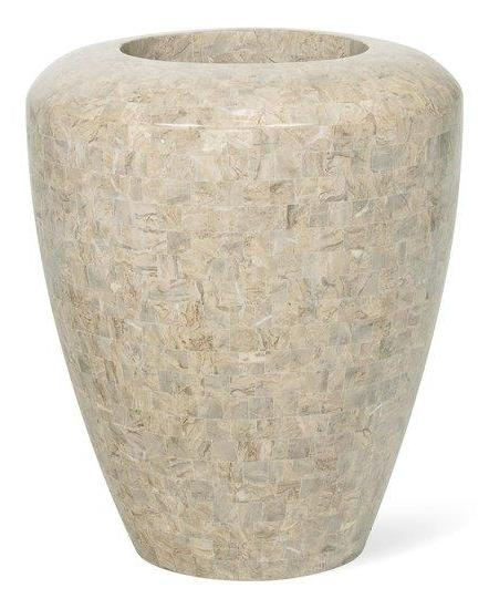 Vaas Geo cappuccino marble 70 cm