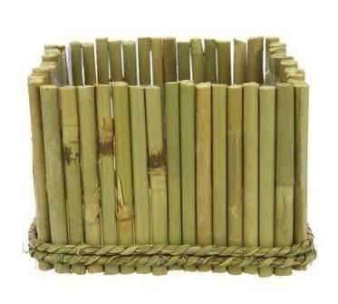 Vierkante Bamboe schaal