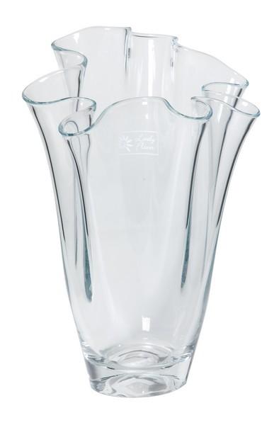 Waaier vaas van glas 27 cm