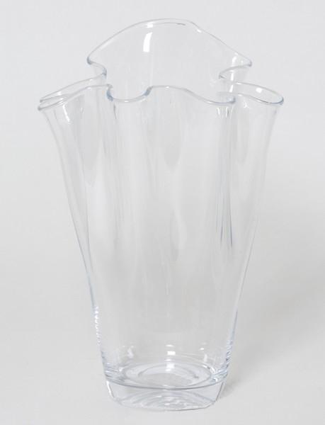 Waaier vaas van glas 30 cm