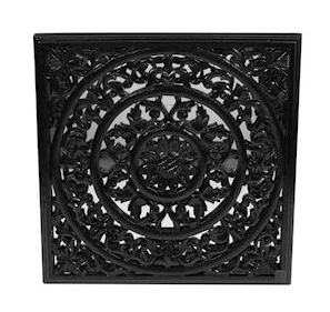 Wanddecoratie Fampoux zwart hout MAR10