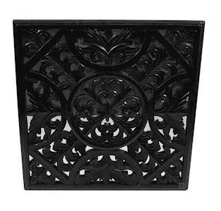 Wanddecoratie Nailly zwart hout MAR10