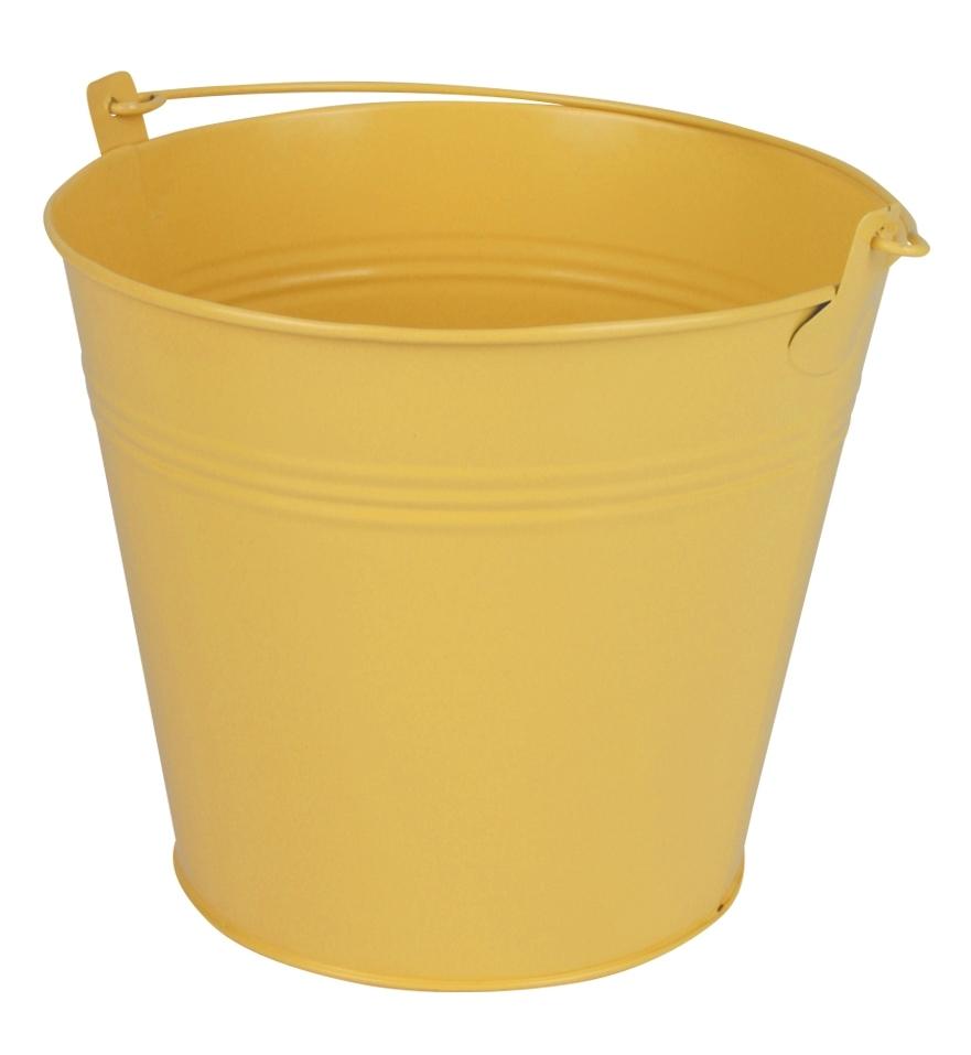 Zinken emmer geel mat Ø 17,8 cm