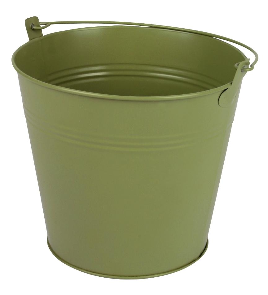 Zinken emmer groen mat Ø 17,8 cm