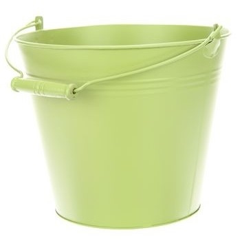 Zinken emmer in pastel groen Ø 24,5 cm