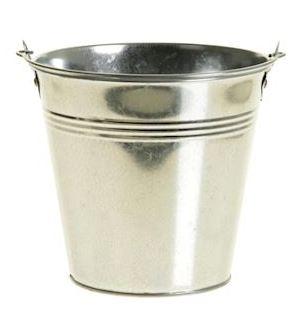 Zinken emmer Ivydale zilverkleurig
