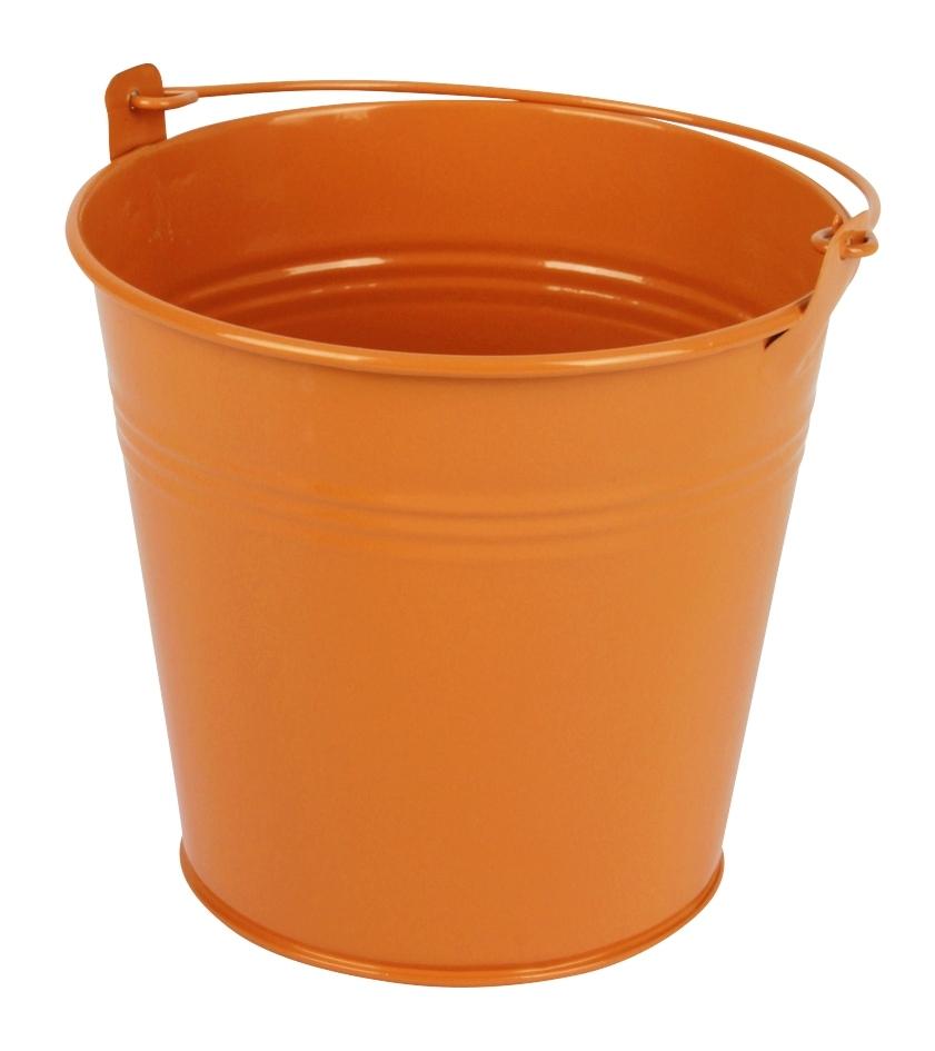 Zinken emmer oranje glans Ø 13 cm