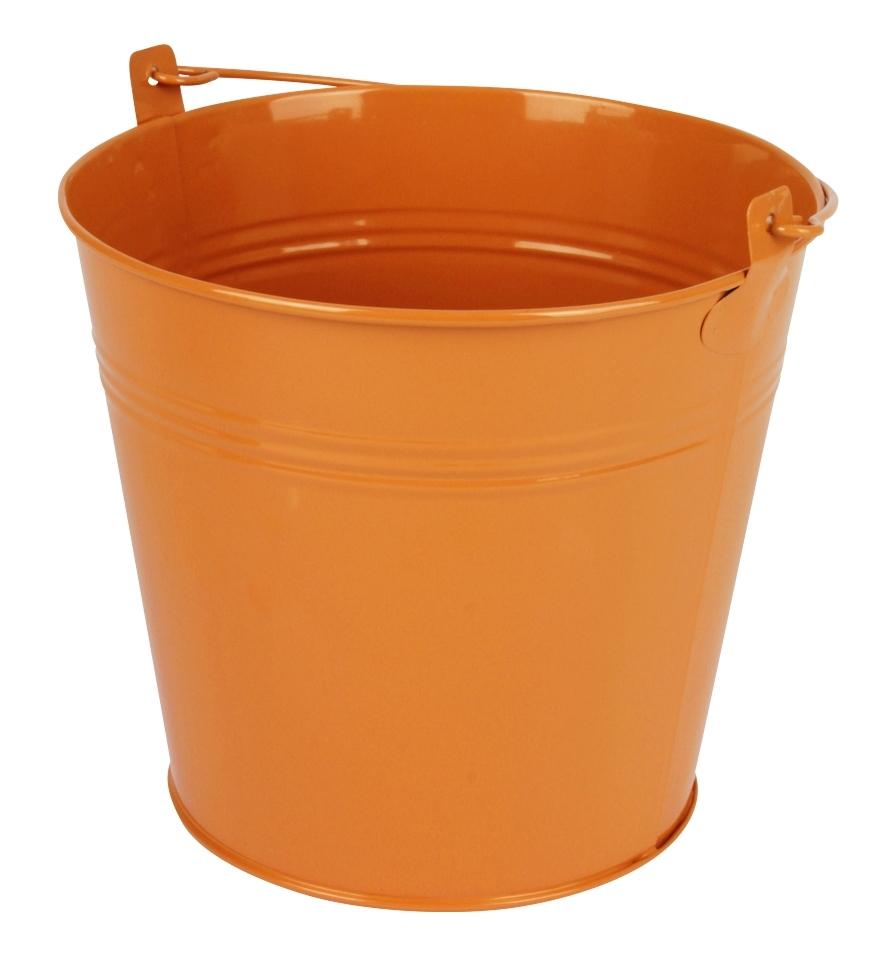 Zinken emmer oranje glans Ø 17,8 cm