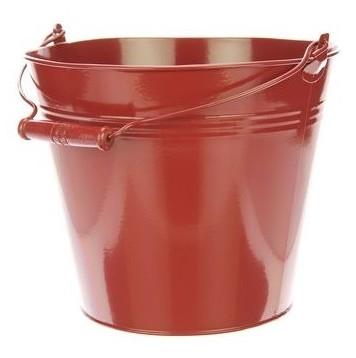 Zinken emmer roodbruin Ø 28 cm