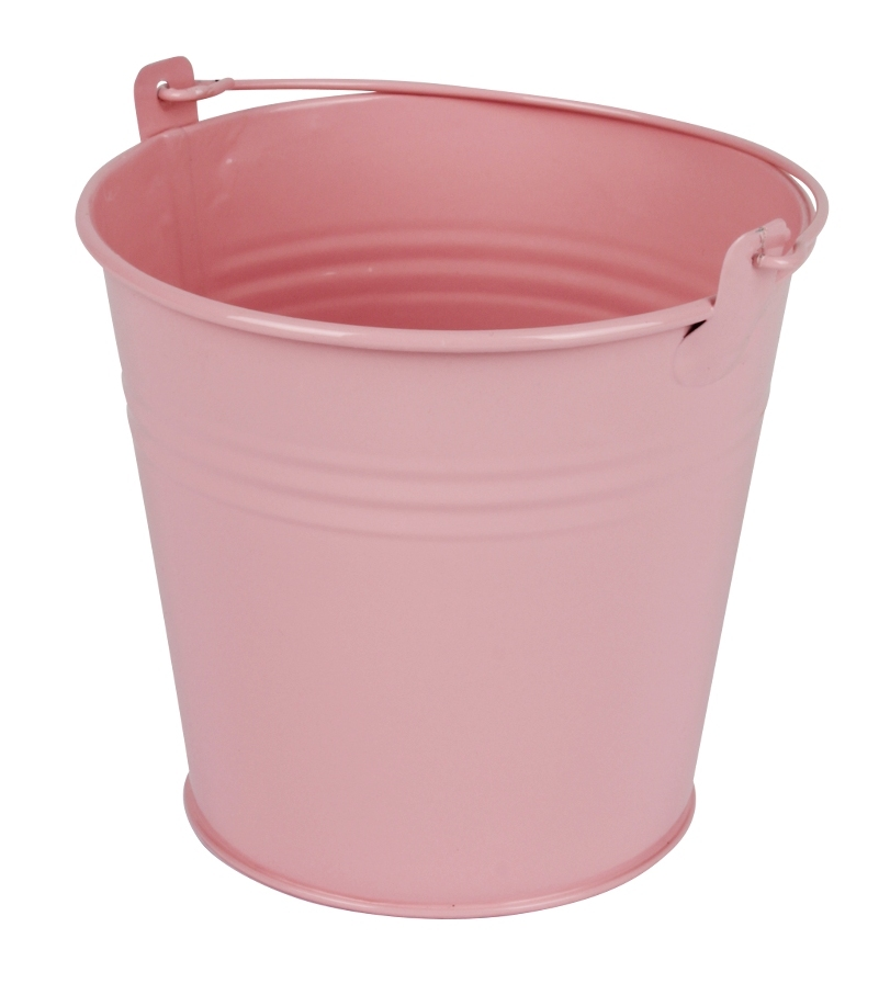 Zinken emmer roze glans Ø 13 cm