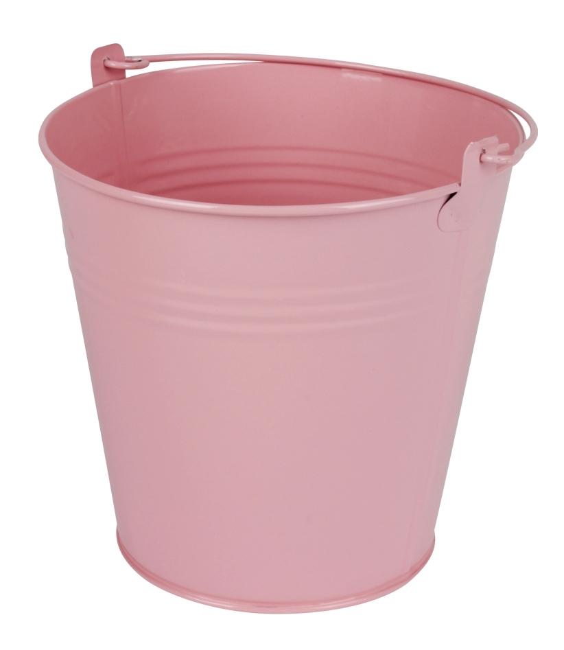 Zinken emmer roze glans Ø 15,5 cm