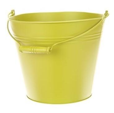Zinken emmer vintage groen Ø 28 cm
