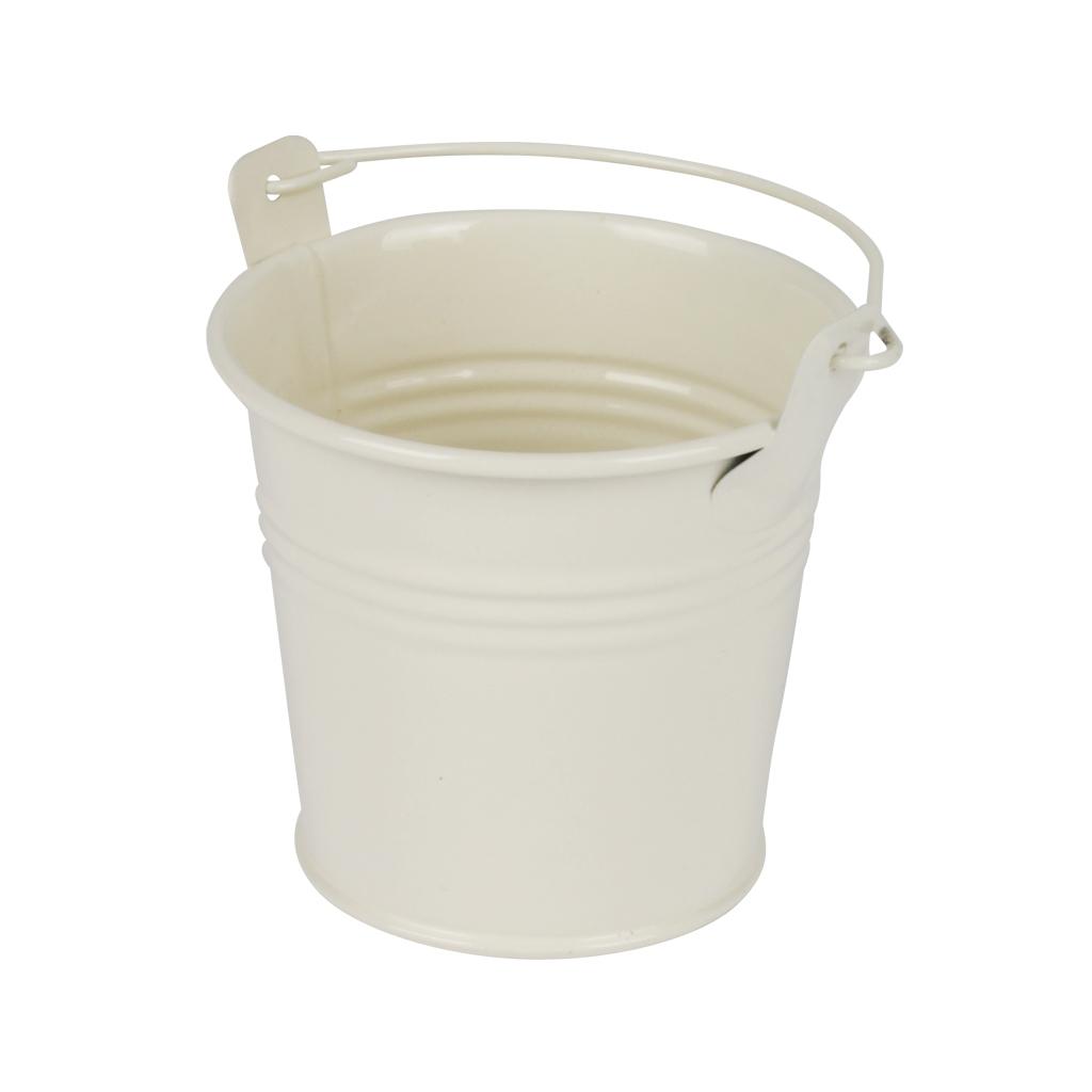 Zinken emmertje crème glans Ø 8,2 cm