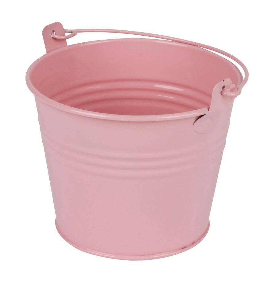 Zinken emmertje roze glans Ø 11,7 cm
