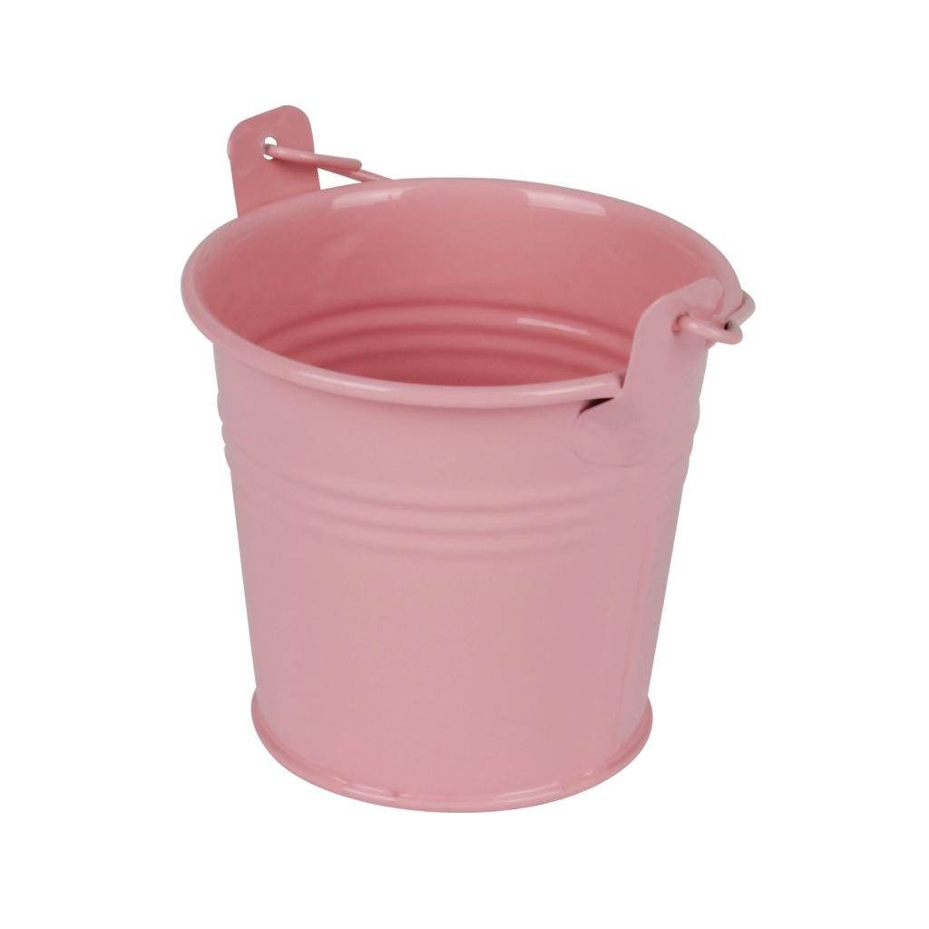 Zinken emmertje roze glans Ø 8,2 cm