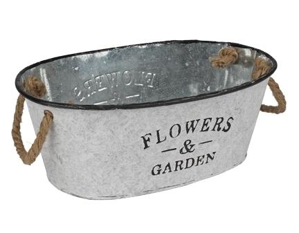 Zinken plantenbak Flowers & garden