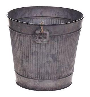 Zinken pot Rinco grijs extra large