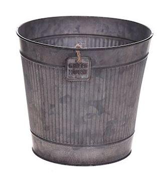 Zinken pot Rinco grijs large